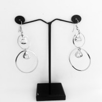 Daily Wear Round Silver / Golden Finish Earrings