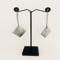 Daily Wearing Earrings with Square Pendent