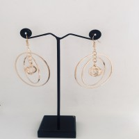 Golden Concentric Circle Daily Wear Earrings