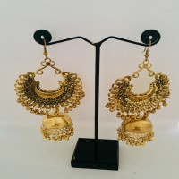 Golden Earrings with Bells