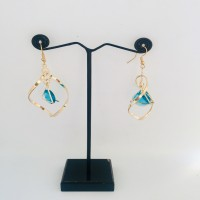Golden Earrings with Stones