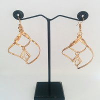 Golden Twisted Earrings