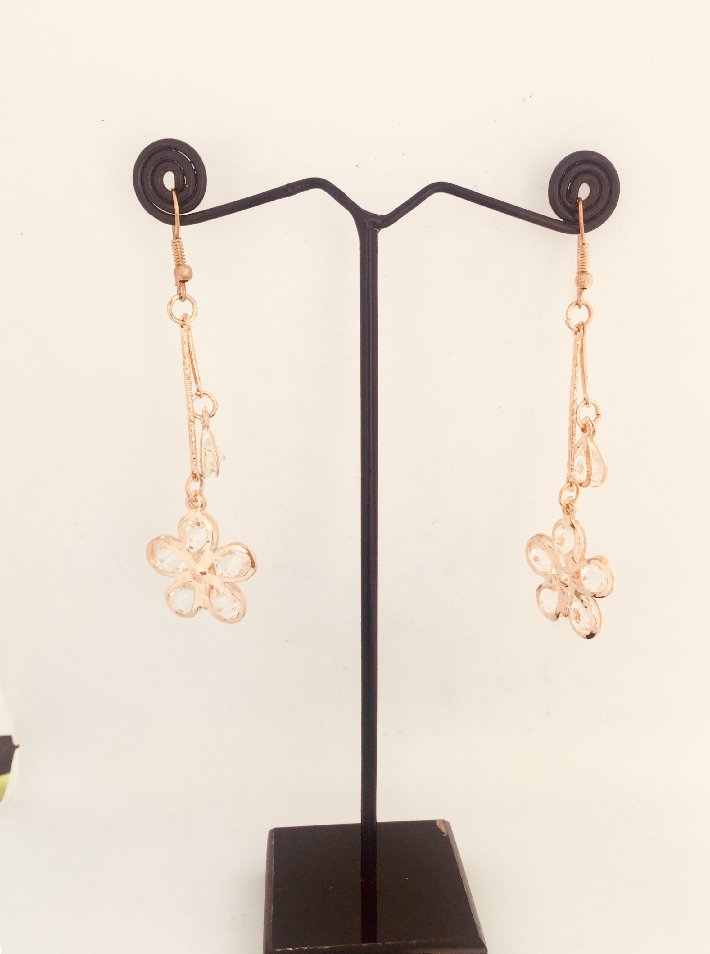 Golden Flower Shaped Earrings