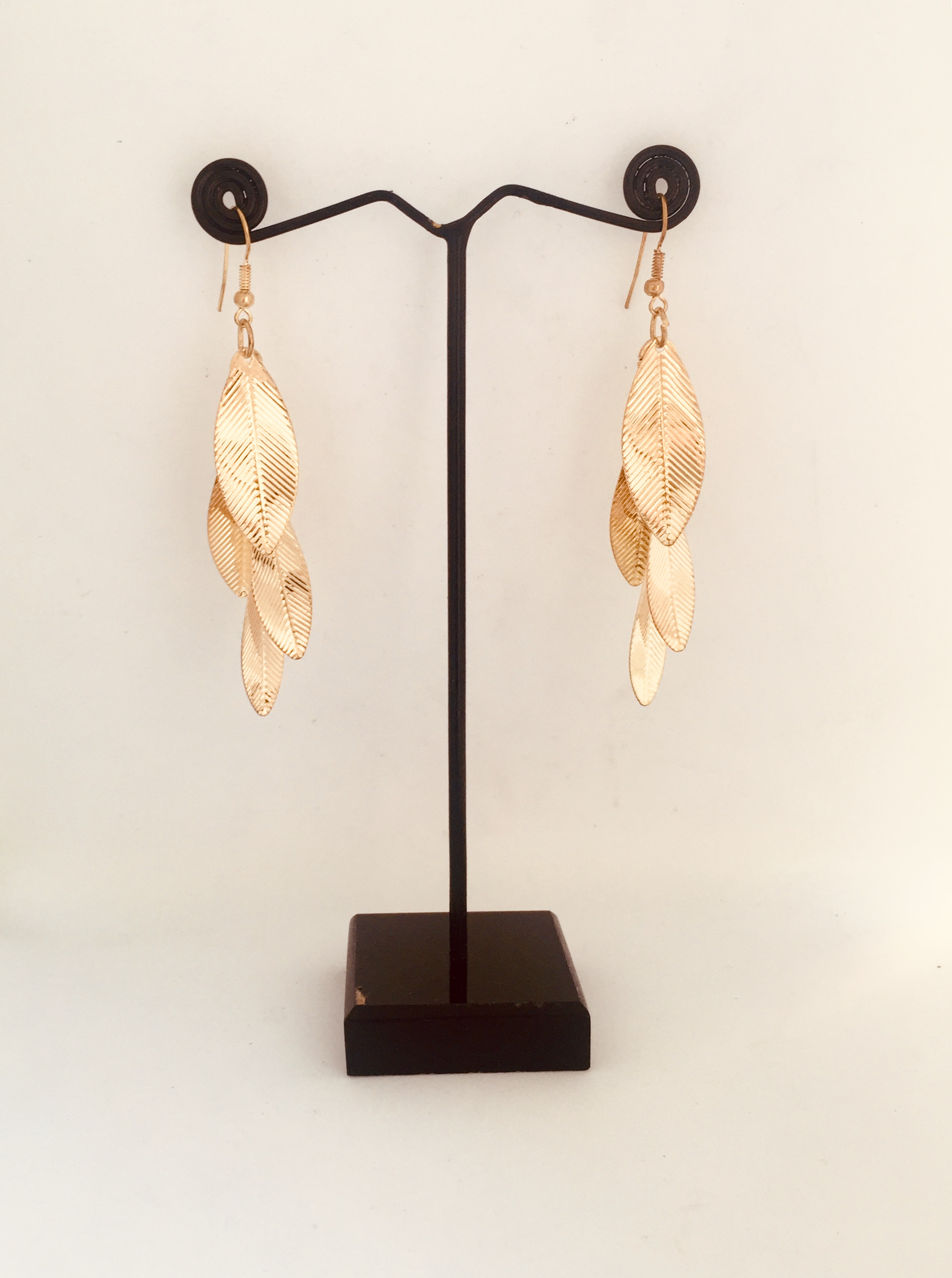 Golden Leaf Type Earrings